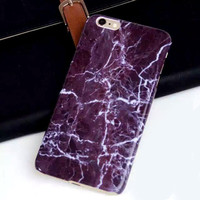 Printed Marble Stone Pattern Hard Back Case Cover Skin For iPhone