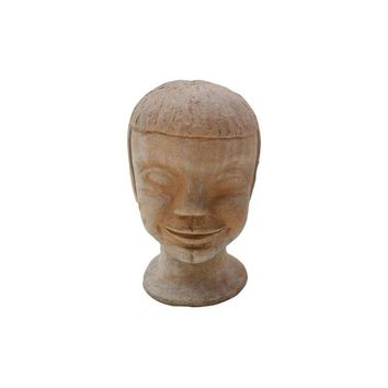 Pre-owned Vintage Studio Pottery Head Bust