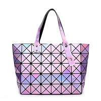 New hollywood trend women high quality brand designers handbags holographic bao bao bag,best gift for her with logo