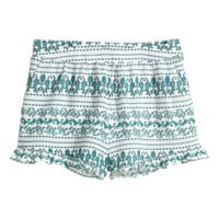 H&M Patterned Shorts with Ruffle $19.99