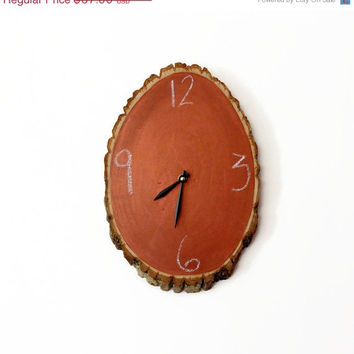 SALE Chalkboard Clock,  Copper Clock,  Home and Living, Decor & Housewares, Rustic Wall Decor, Wood Decor,  Unique Gift