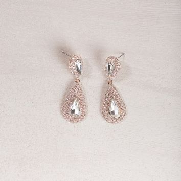 Mandy Crystal Teardrop Earrings
