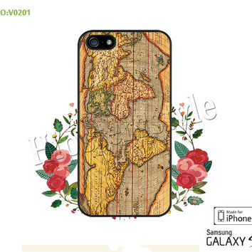 Phone case iPhone 5/5S/5C Case, iPhone 4/4S Case,  The world map, S3 S4 S5 Note 2 Note 3 Case for iPhone-B0201