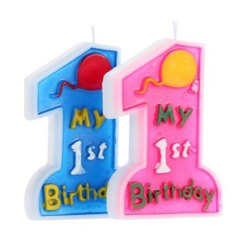 Birthday Cake Candle My 1st Birthday Cake Candle Kids First One Anniversary Party Decor