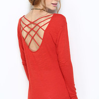 Persimmon Cross Back Top