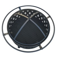"Wood Burning 32"" Outdoor Black Fire Pit"