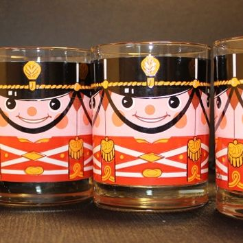 Georges Briard Nutcracker Rocks Glasses, Set of Four