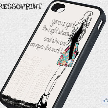 "Quote iPhone 4/4s Case ""Give a Girl..."""