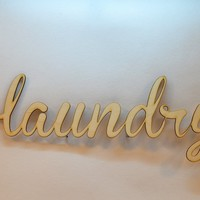 laundry - Laser Cut Wall Words