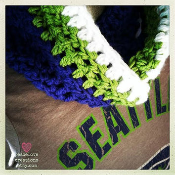 Seattle Seahawks Inspired Infinity Scarf