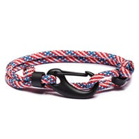 'Merica Paracord Bracelet with Matte Black Clasp (SOLD OUT)
