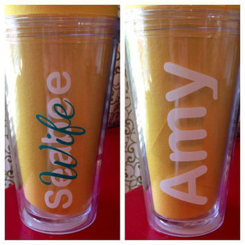 Seabee, USMC, Army, Navy, Air Force, Firefighter Wife/Fiance/Girlfriend Acrylic Tumbler