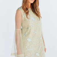 Kimchi Blue Soft Landing Embroidered Mesh Lace Mini Dress - Urban Outfitters