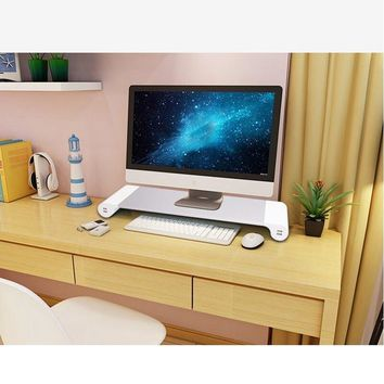Computer Monitor TV Stand USB Charger Entertainment Center Storage New UK/EU Plug Notebook Stand