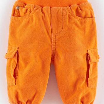 Infant Boy's Mini Boden 'Cosy' Lined Corduroy Cargo Pants,