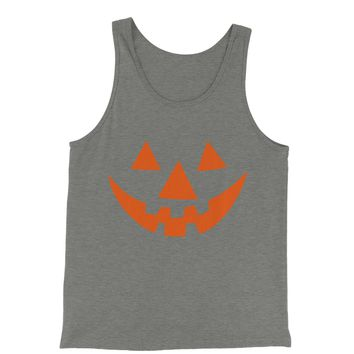 Pumpkin Face (Orange Print) Jersey Tank Top for Men