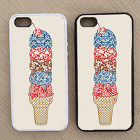 Hipster Ice Cream iPhone Case, iPhone 5 Case, iPhone 4S Case, iPhone 4 Case - SKU: 131
