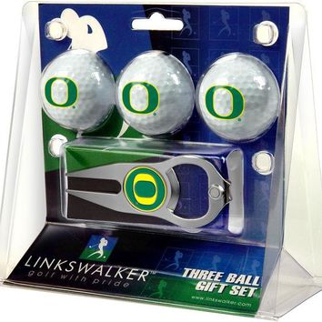 Oregon Ducks Hat Trick Divot Tool 3 ProVictory Ball Gift Pack