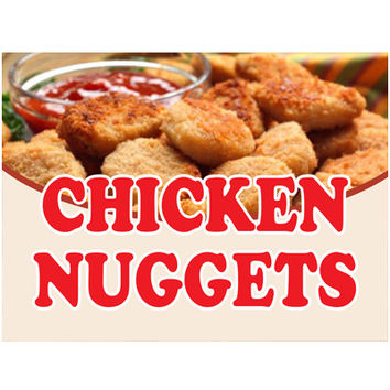 Chicken Nuggets Retail Store Food Sign