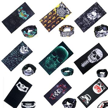 Sport Skull Scarves Fashion Hip Hop Multifunctional Bandana Headband Magic Face Scarf Seamless Tubular Tube Ring Scarf