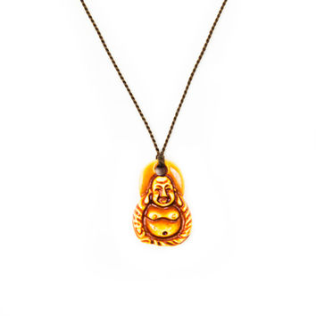 Brown String Buddha Necklace | Disruptive Youth