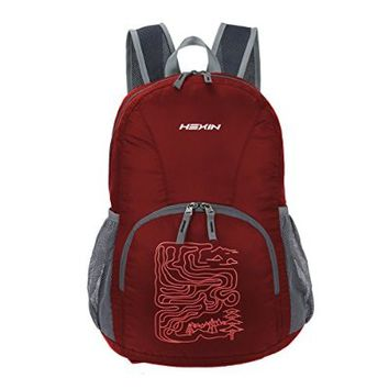 HEXIN 25L Folding Portable Daypack Lightweight Backpack for Travel Hiking Camping