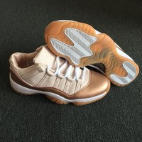 Air Jordan 11 Retro Low Rose Gold Women Basketball Shoes