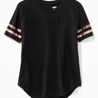 Graphic Football-Style Tee for Girls | Old Navy