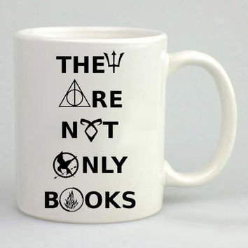 Divergent hunger game harry potter book Mug, Tea Mug, Coffee Mug