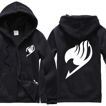 Anime Fairy Tail Clothing Guild Mark Hooded Sweatshirt Hoodie Cosplay Costume = 1932233028