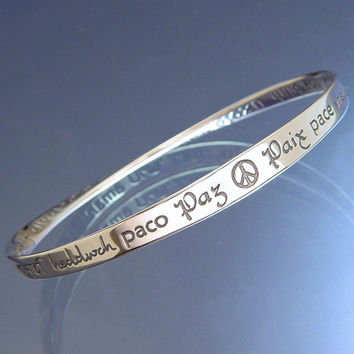 Peace In Forty Languages Sterling Silver