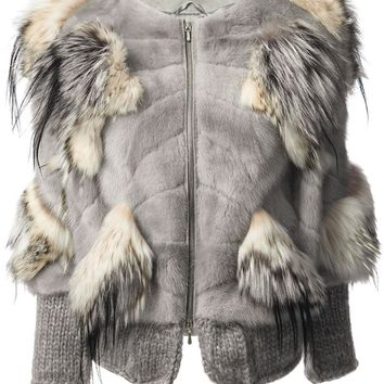 Liska Haute Fourrure By Romain Brau panelled fur jacket