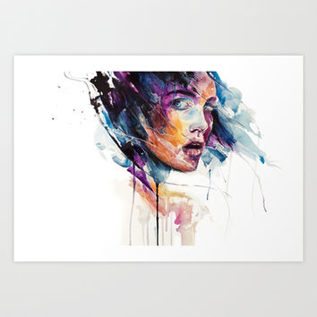 sheets of colored glass Art Print by Agnes-cecile