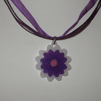 Made to order custom color girls or women flower floral necklace spring jewelry