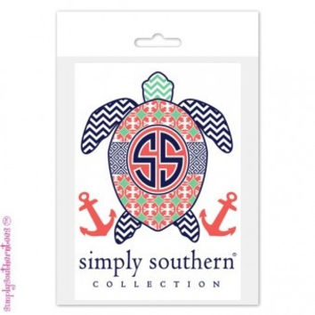 Simply southern decal Turtle