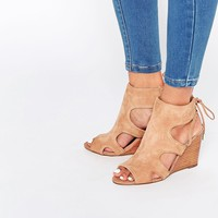 River Island Suede Wedge Sandals