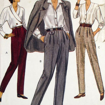 Vogue Pattern 8461 Misses' Tapered Pants Sizes 14-16-18