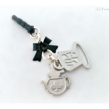 Mad Wonderland Tea Party Phone Plug Charm 99562