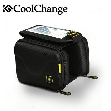 Coolchange NEW 2016 Cycling Bike Bicycle Bag Tube Top Front Frame Bag Pannier Double Pouch for 5in Cellphone