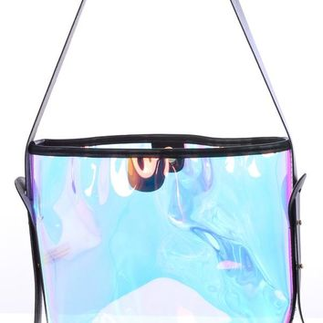 See Right Through You- Iridescent Shoulder Bag