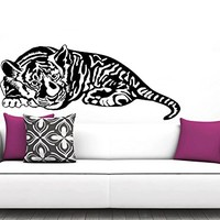Wall Decal Tiger Vermin Hunting Vinyl Sticker Decals Predator Animals Home Decor Bedroom Art Design Interior NS883