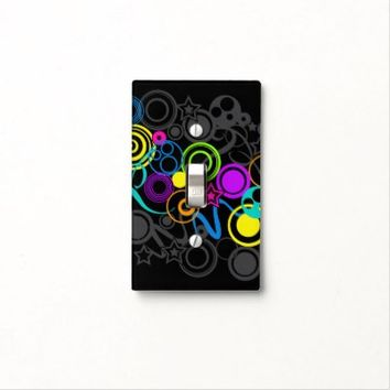 Color Explosion on Black Light Switch Cover