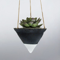 Air Planter, Hanging Planter, Succulent Planter, Concrete Planter, Modern Planter, Geometric Planter, Black Planter, Succulent Pot, White