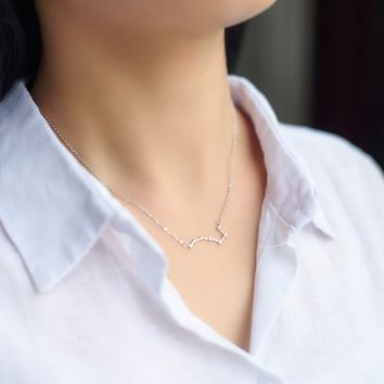 personality Big Dipper 925 sterling silver zircon necklace, a perfect gift