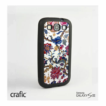 White Flowers Texture Case Samsung i9300 Galaxy S3 III