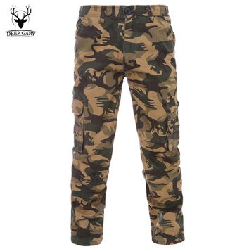 2017 Fashion Men Casual Pants Cargo Pants New Camouflage Slim Army Camouflage Trousers Pants Military Joggers Plus Size