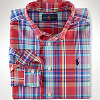 Ralph Lauren Childrenswear 2-7 Blake Plaid Poplin Long-Sleeve Shirt
