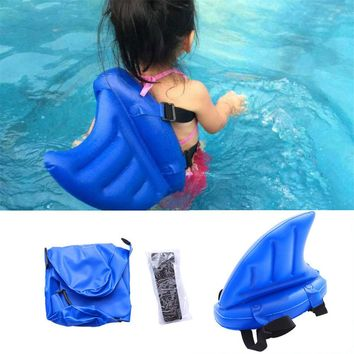 Kids Child Swim Learning Inflatable Float Shark Fins Children Swimming Pool Toys Life Buoy Floats Swimming Rings