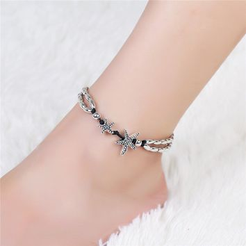 Starfish Vintage Cute Women Ankle Bracelet Ladies Anklet Ankle Chain Leg Jewelry Gold Silver Color