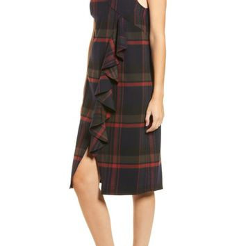 BP. Plaid Ruffle Surplice Dress (Regular & Plus Size) | Nordstrom